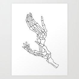 Halloween Skeleton Hands Presents Hoodie spooky horror fan Art Print