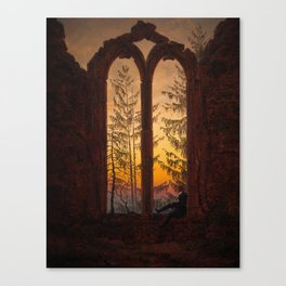 The Dreamer Scenic Sunset Landscape by Caspar David Friedrich Canvas Print