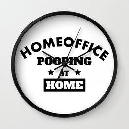 Homeoffice Pooping at Home Wall Clock