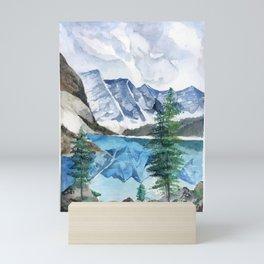 Watercolour landscape Mini Art Print