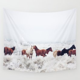 Winter Horseland Wall Tapestry
