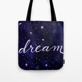 Watercolor galaxy dream - dark blue Tote Bag