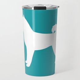 Shiba Inu (Aqua/White) Travel Mug
