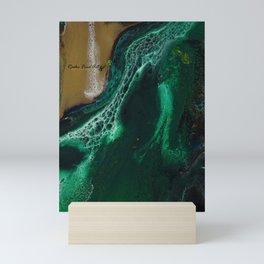 Trimeresurus Stejnegeri - green fluid abstract Resin Art Mini Art Print
