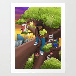 Magic Tree Art Print