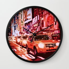 Glittering Light of New York City Wall Clock
