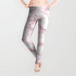 Gentle Marble Collection: Champagne Pink Veins On Ice Leggings