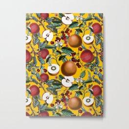 Vintage Fruit Pattern V Metal Print