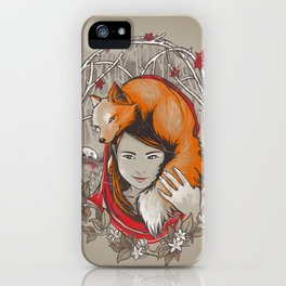 Safe in My Red Riding Hood iPhone Case