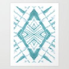 Dye Diamond Sea Salt Art Print