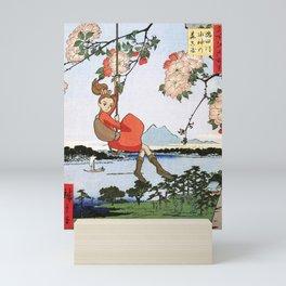 Arrietty landing - a japanese woodblock mashup Mini Art Print