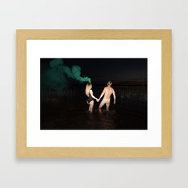 Fire Swim With Me Framed Art Print