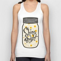 fireflies Tank Tops featuring Fireflies by Landon Sheely