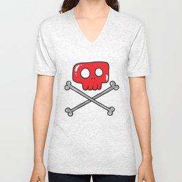Cute little pirate sign Unisex V-Neck