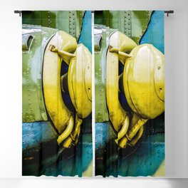 Powerful Engine Of A Modern Attack Helicopter Blackout Curtain