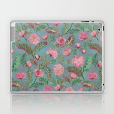 Soft Smudgy Pink and Green Floral Pattern Laptop & iPad Skin