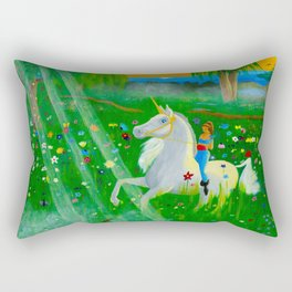 Bizet's Unicorn Rectangular Pillow