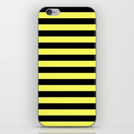 Stripes (Black & Yellow Pattern) iPhone Skin