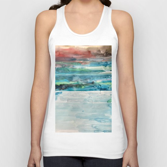 Miami Beach Watercolor #5 Unisex Tank Top