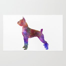 Boxer in watercolor Rug