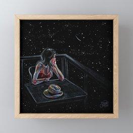 Wait for a Star Framed Mini Art Print