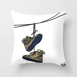 """Livin' For The City - """"Just For Kicks"""" Throw Pillow"""