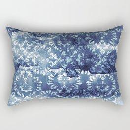 Indigo Batik Abstract Rectangular Pillow