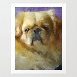 Lion Dog Art Print