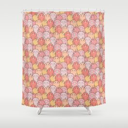 Pig Pattern | Pink Piglet Farm Farmer Shower Curtain