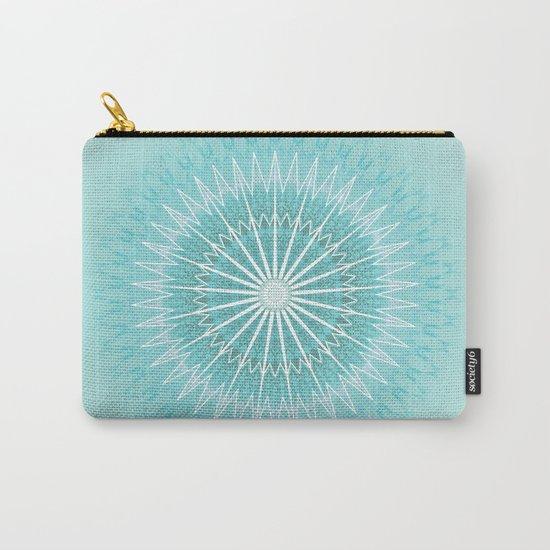 Turquoise Aqua Mandala Carry-All Pouch