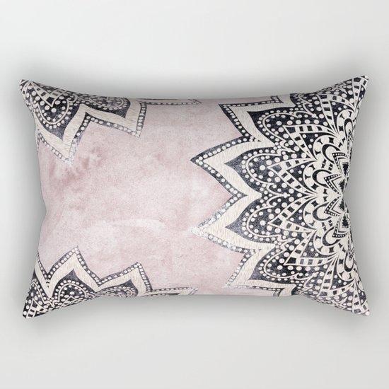 ROSE BOHO NIGHTS MANDALAS Rectangular Pillow