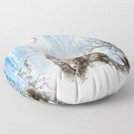 Wonderful snowleopard Floor Pillow