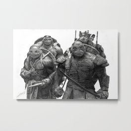 Green Teenage Heroes Metal Print