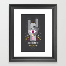 Frustrated Rocker Framed Art Print