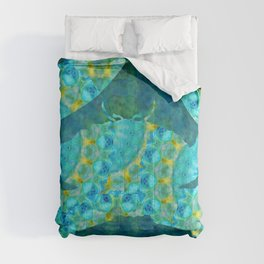 Mandala Crab - Beach Art - Sharon Cummings Comforters