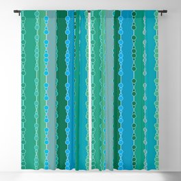 Multi-faceted decorative lines 5 Blackout Curtain