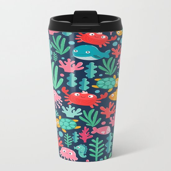 Under the sea Metal Travel Mug