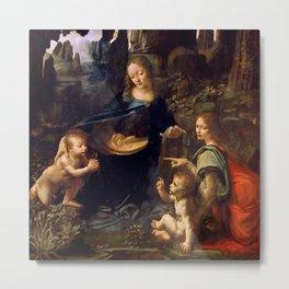 "Leonardo da Vinci ""The Virgin of the Rocks"" (Louvre) Metal Print"