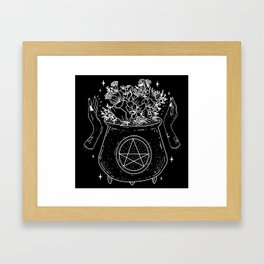 magical cauldron Framed Art Print