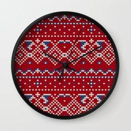 Pattern in Grandma Style #62 Wall Clock