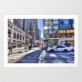 New York City Street Scene Art Print