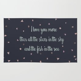 Love and the stars Rug