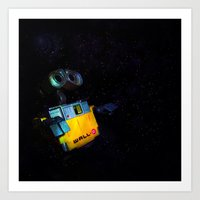 wall e Art Prints featuring Wall-E by Tanis Ketra