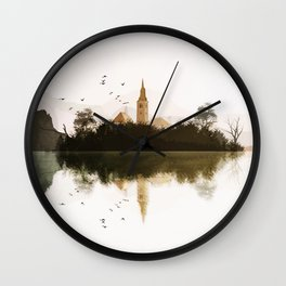 Lake Bled, Slovenia. Wall Clock