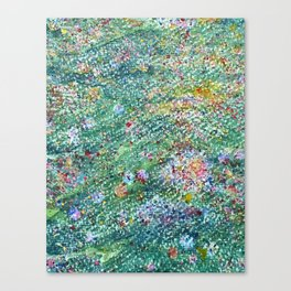 colorful flower filed Canvas Print