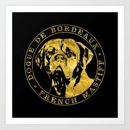 Golden Dogue de Bordeaux - French Mastiff Art Print