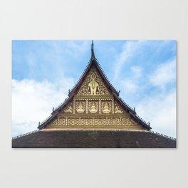 Ho Phra Keo Roofline, Vientiane, Laos Canvas Print
