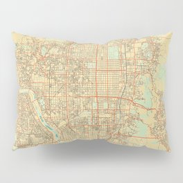 Kyoto Map Retro Pillow Sham