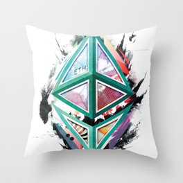 Ethereum Logo Abstract 01 Throw Pillow