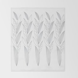 Eternity in Silver Leaf II Throw Blanket